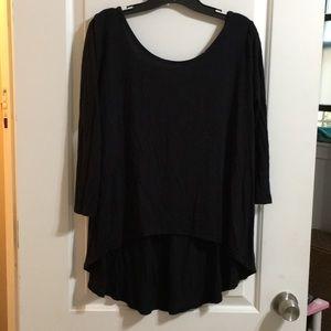 Cacia Black 3/4 sleeve blouse